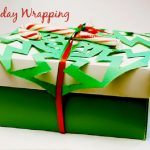 Holiday Gift Wrapping with Snowflakes