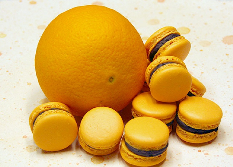 Orange Chocolate Macarons