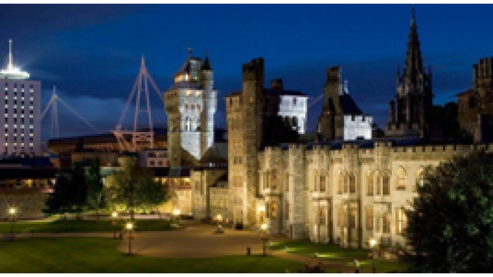 Cardiff Castle. The fortress and the Gothic house