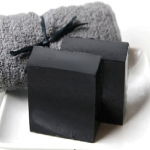 Organic soap with active carbon